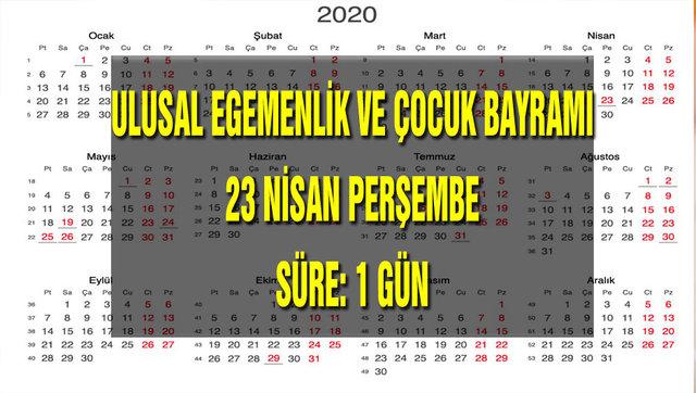 2020 Resmi tatiller takvimi! Diyanet Ramazan Bayramı ve Kurban Bayramı tarihleri! Tatil kaç gün?