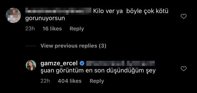 Gamze Erçel'den kilo eleştirilerine yanıt: Görüntüm şu an en son düşündüğüm şey - Magazin haberleri