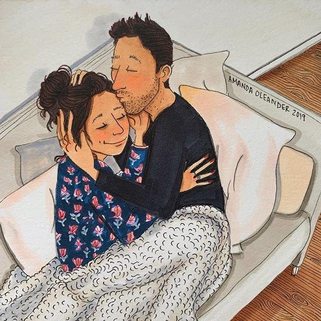 Aşkın en özel hallerini yansıtan illüstrasyonlar!