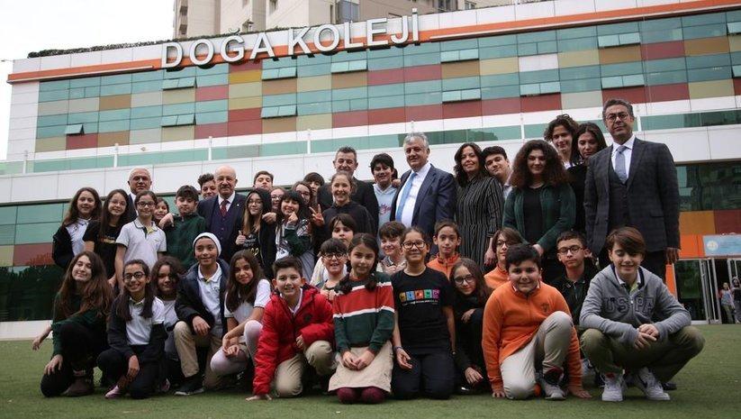 İTÜ Rektörü Prof. Dr. Karaca Doğa Koleji öğrencileri ile buluştu