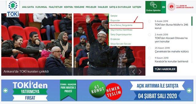 TOKİ kura sonuçları sorgulama ekranı! TOKİ İstanbul, Ankara il il kura sonuçları nasıl öğrenilir?