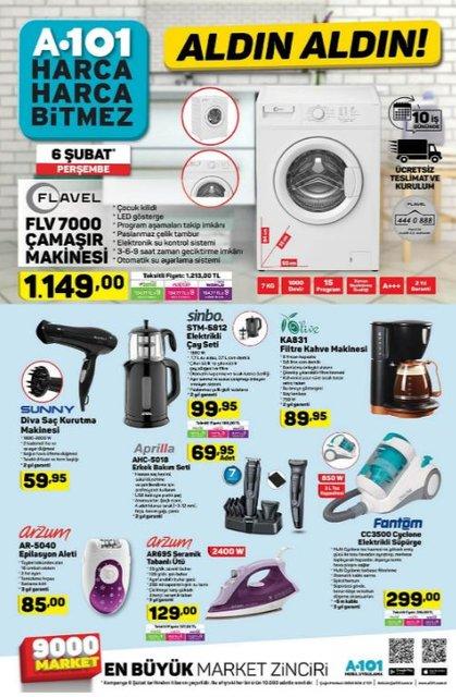 A101 6 Şubat Aktüel ürünler kataloğu! A101'de bu hafta ne var?