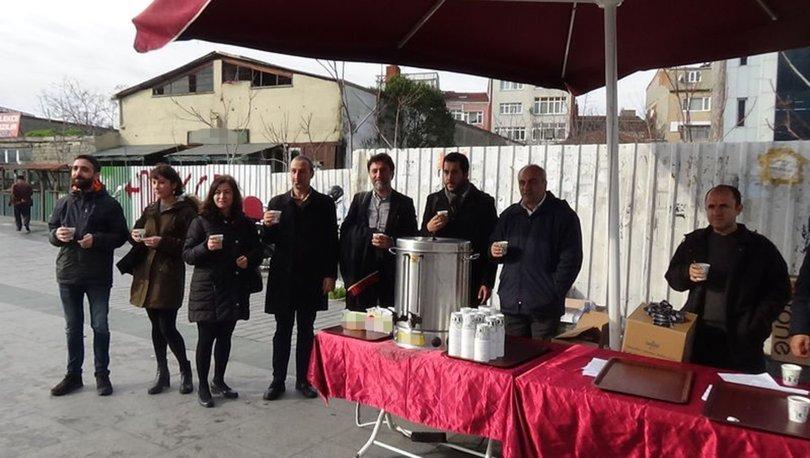 İstanbul'da avukatlardan çay boykotu