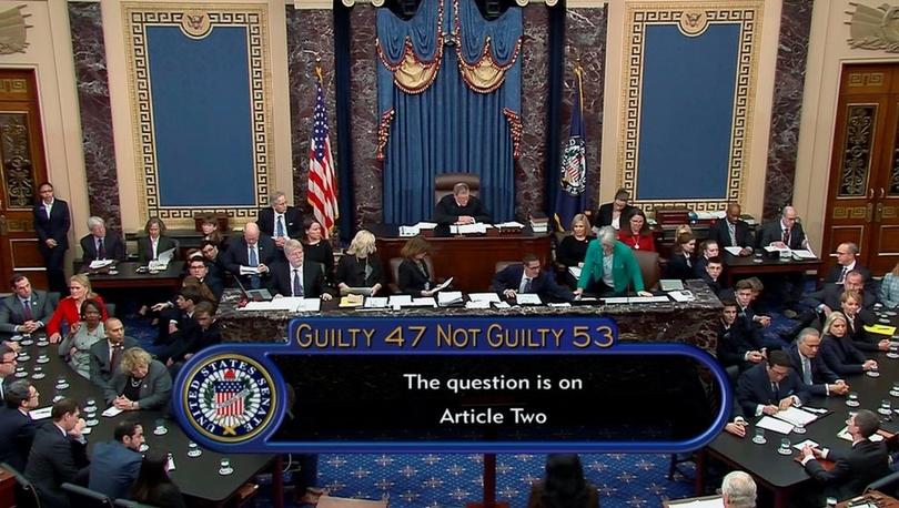 Trump'ın azil soruşturması: Senato, Başkan'ı akladı