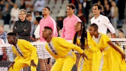 Federer, Nadal ve Bill Gates maç yaptı!