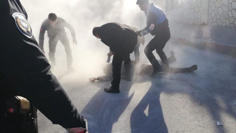 Tarsus Belediye tesisleri önünde bir vatandaş kendini yaktı