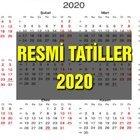 2020 RESMİ TATİL TAKVİMİ
