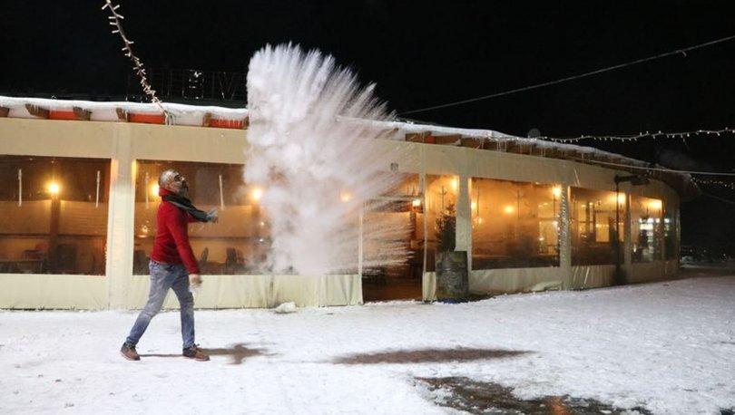 Sivas'ta dondurucu soğuk