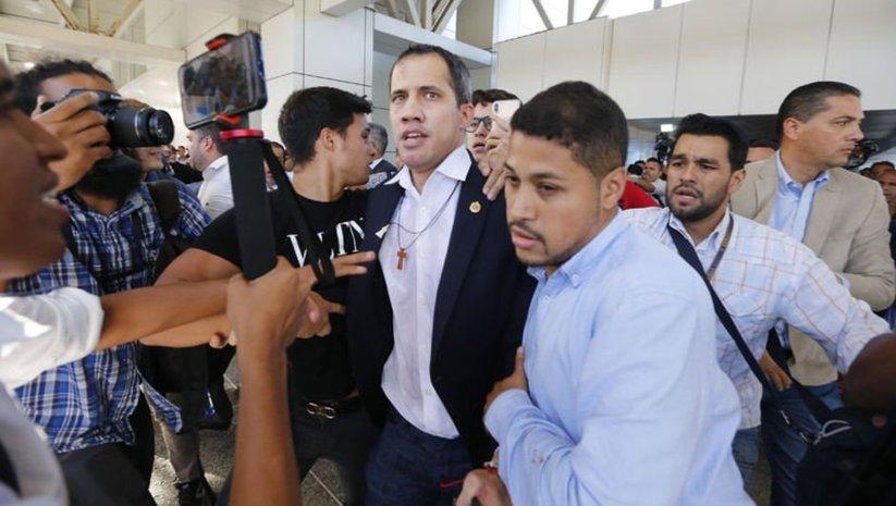 Guaido Venezuela'ya olaylı dönüş
