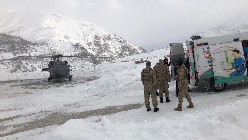 Diyaliz hastasının yardımına askeri helikopter yetişti