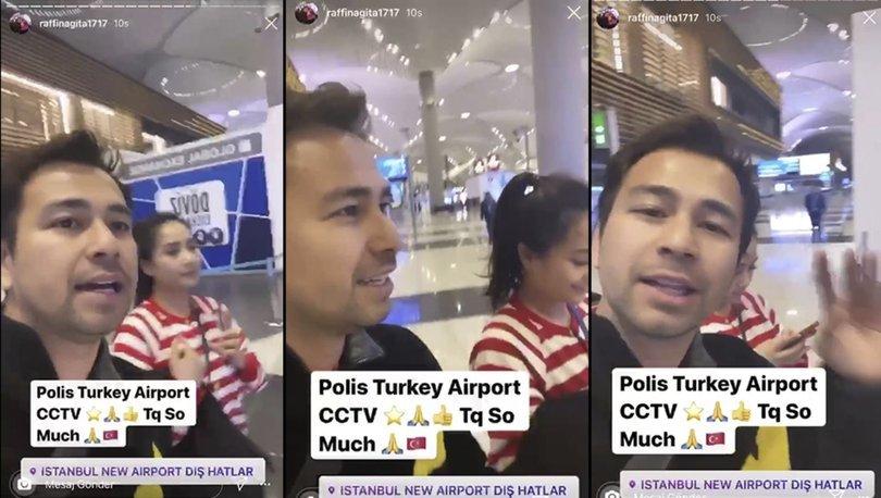 Endonezyalı oyuncu Raffi Ahmad Nagita Slavina'dan Türk polisine teşekkür