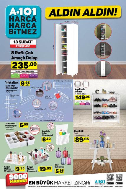 A101 13 Şubat 2020 aktüel ürünleri satışa çıktı! A101 bugün hangi ürünler indirimli olacak? İşte tam liste