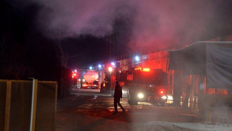 pamuk fabrikasında yangın