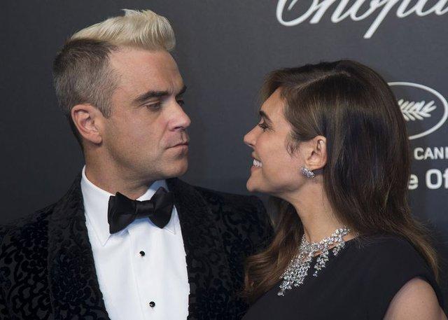 Robbie Williams ve Ayda Field çiftinin mutlu günü - Magazin haberleri