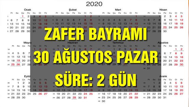 2020 Resmi tatiller takvimi! Diyanet Ramazan Bayramı ve Kurban Bayramı tatilleri kaç gün olacak?