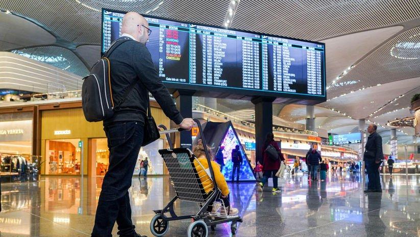 """Havalimanlarında """"sessizlik"""" dönemi"""