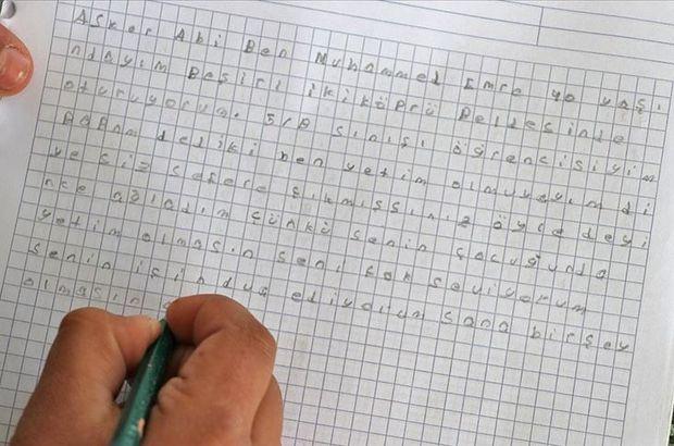 10 yaşındaki çocuktan Mehmetçiği duygulandıran mektup