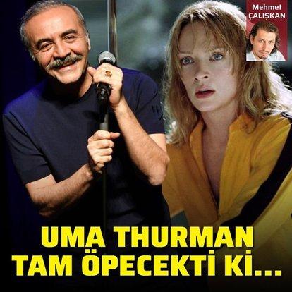 Uma Thurman tam öpecekti ki...