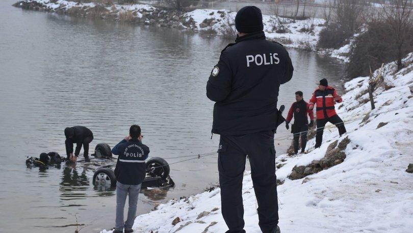 Malatya'da otomobil gölete düştü: 1 ölü 3 yaralı