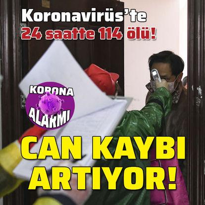 Koronavirüs'ten 24 saatte 114 ölü! Can kaybı yükseliyor!