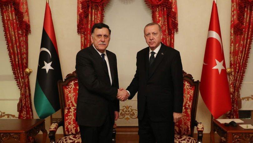 Son dakika! Cumhurbaşkanı Erdoğan, Libya UMH Başbakanı Serrac'ı kabul etti