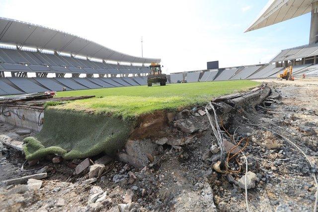 Olimpiyat Stadı'nın son hali (Şampiyonlar Ligi finali ve Türkiye Kupası finali)