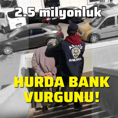 Ankara'da 2.5 milyonluk Hurda Bank vurgunu!