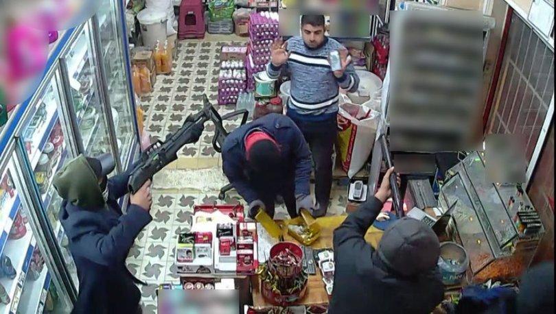 Maskeli, silahlı soygun, güvenlik kamerasında