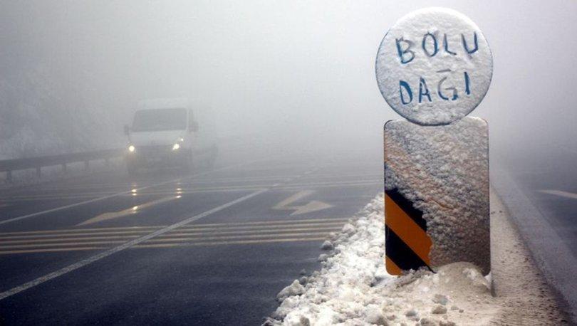 Son dakika Bolu Dağı'nda sis! Bolu Dağı'nda sis ulaşımı yavaşlattı!