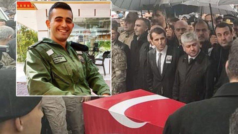 İdlib şehidine veda! İdlib şehidi teğmen memleketi Hatay'da toprağa verildi