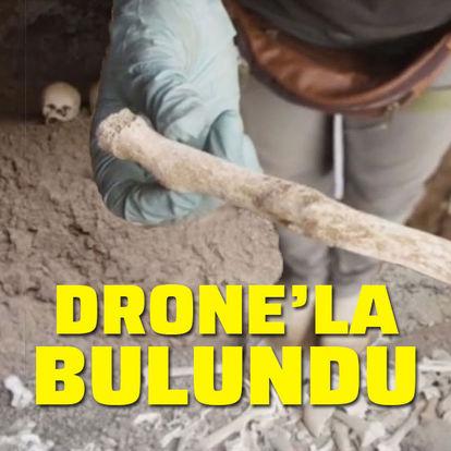 Drone yardımıyla buldular...