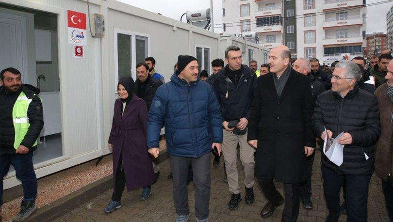 İçişleri Bakanı Soylu, Elazığ'da konteyner yerleşim alanlarını inceledi