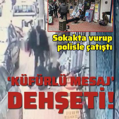 Sokak ortasında vurup, polisle çatıştı