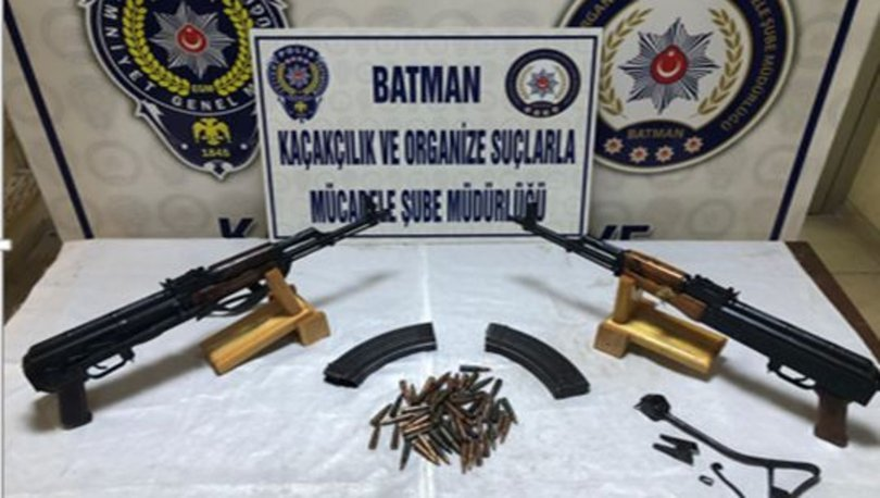Batman'da silah operasyonu: 5 kişi gözaltına alındı
