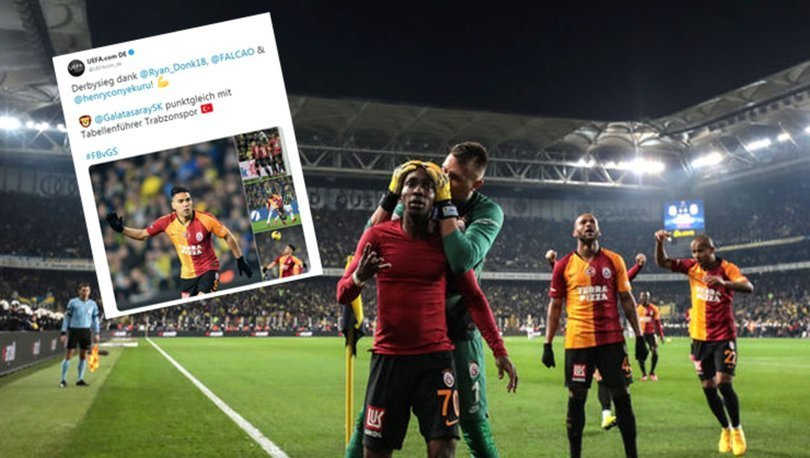 FIFA ve UEFA da Galatasaray'ın Fenerbahçe galibiyetini paylaştı