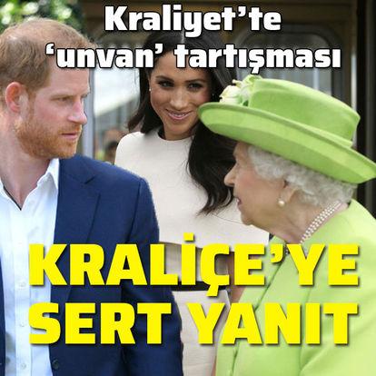 Kraliyet'te unvan tartışması... Kraliçe'ye sert yanıt!