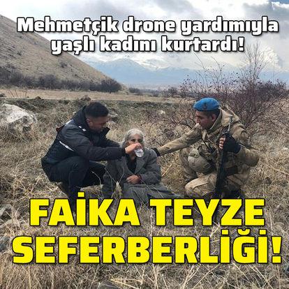 Mehmetçik'ten 'Faika teyze' seferberliği!