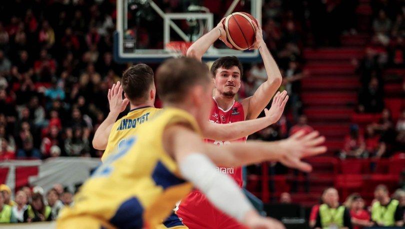 İsveç: 87 - Türkiye: 80 EuroBasket 2021 Elemeleri
