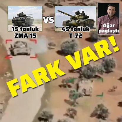 15 tonluk ZMA-15 VS 45 tonluk T-72