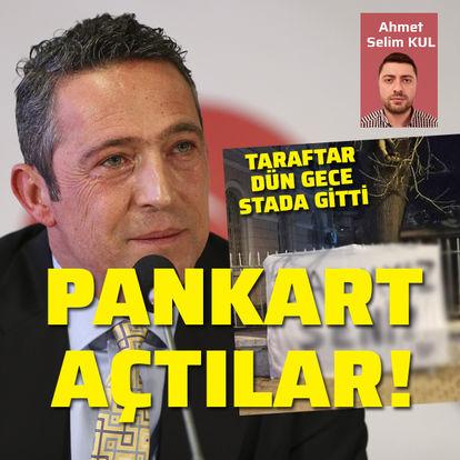 Fenerbahçe taraftarından Ali Koç'a destek