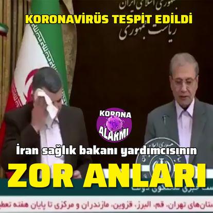 İran sağlık bakanı yardımcısının zor anları!