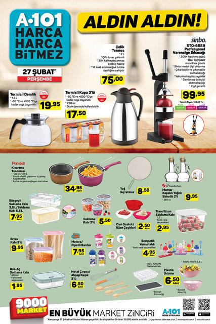 A101 27 Şubat 2020 aktüel ürünleri satışa çıkıyor! A101 yarın hangi ürünler indirimli olacak? İşte tam liste