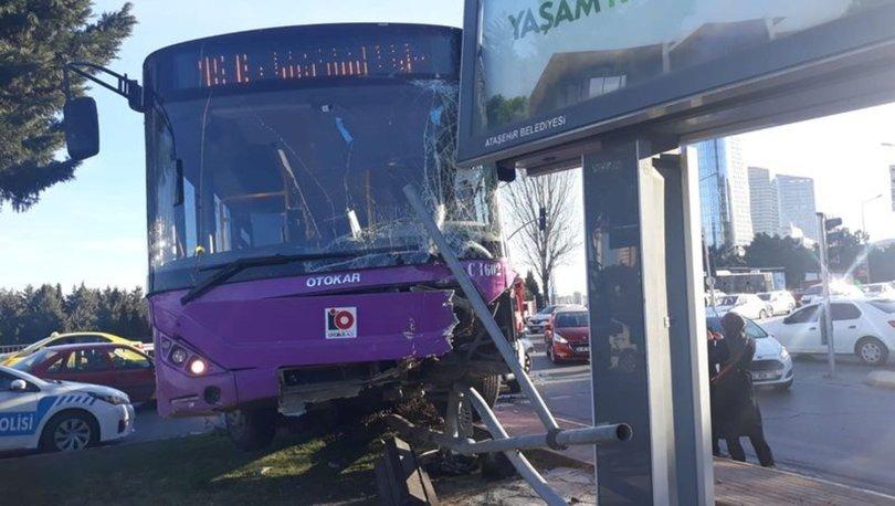 Son dakika haberi! Ataşehir'de halk otobüsü kaza yaptı! 1 yaralı - Haberler
