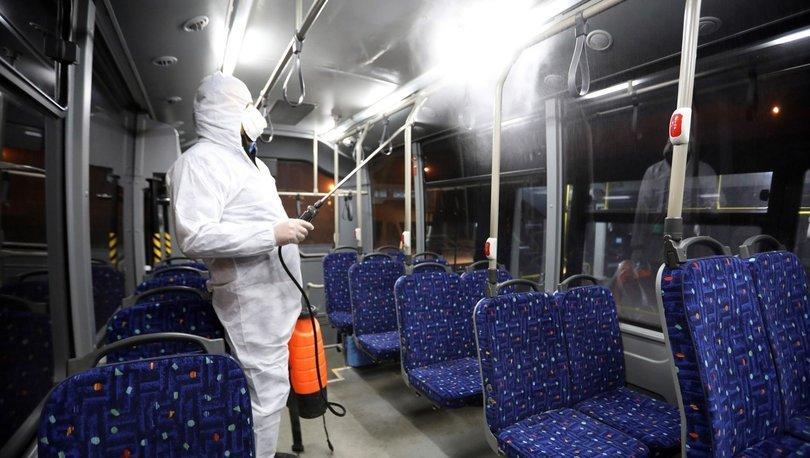 Van'daki toplu taşıma araçları koronavirüse (coronavirus) karşı ilaçlanıyor