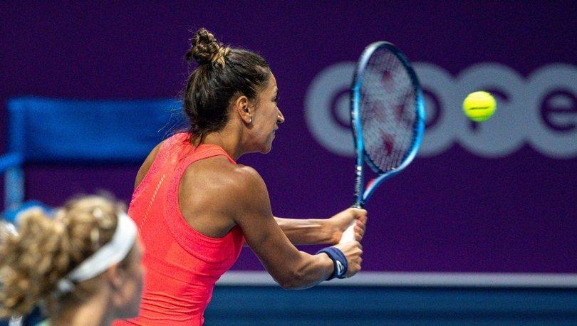 Milli tenisçi Çağla Büyükakçay, Katar'da çeyrek finalde