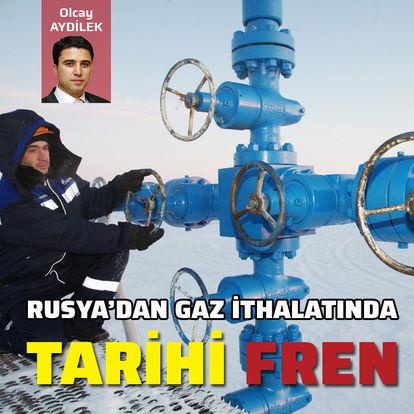 Rusya'dan gaz ithalatında tarihi fren