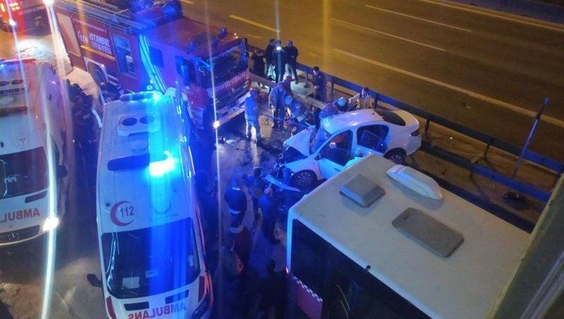 Ataşehir'de feci kaza: 2'si ağır 3 yaralı