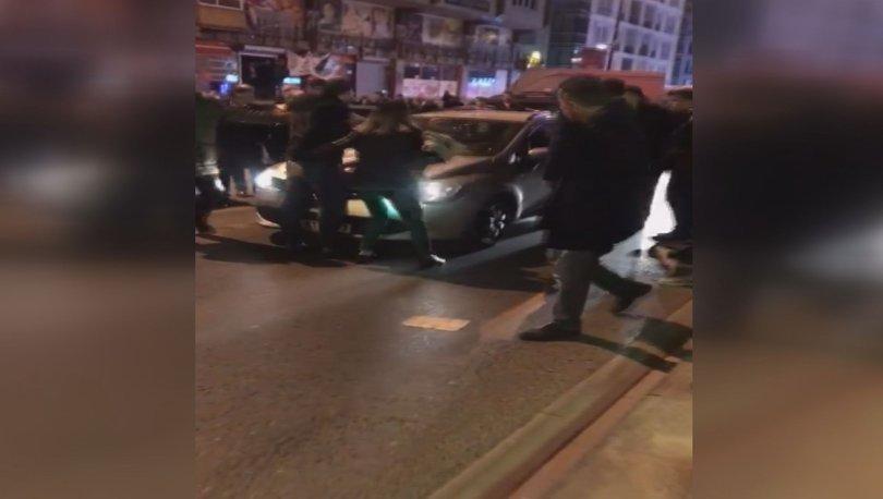 Son dakika haberleri... İstanbul'da dehşet anları! Otomobili bebekli kadının üzerine sürdü