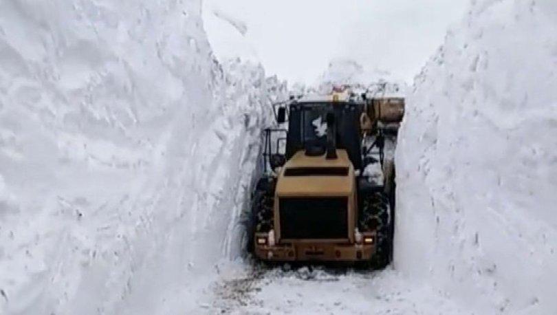 Hakkari şemdinli'de karla mücadele