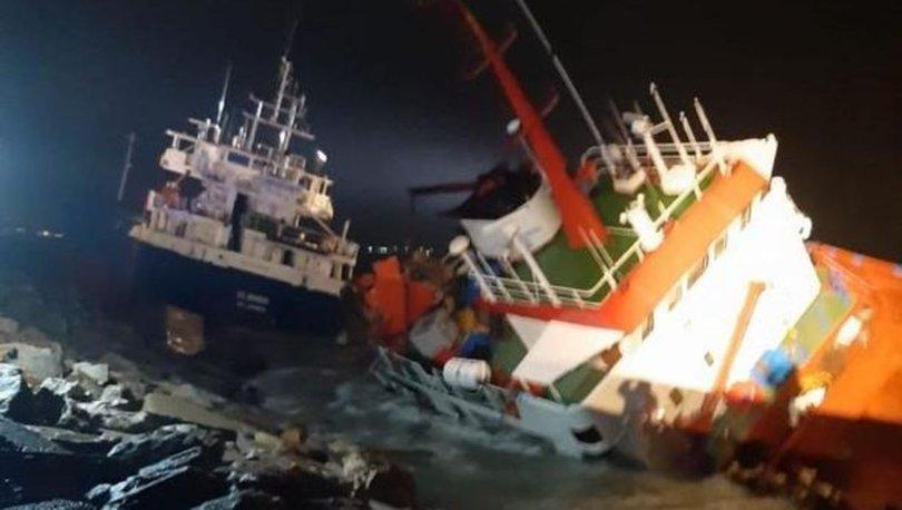 Tuzla'da sürüklenen gemi başka bir gemiye çarptı - haberler